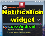 Notification widget