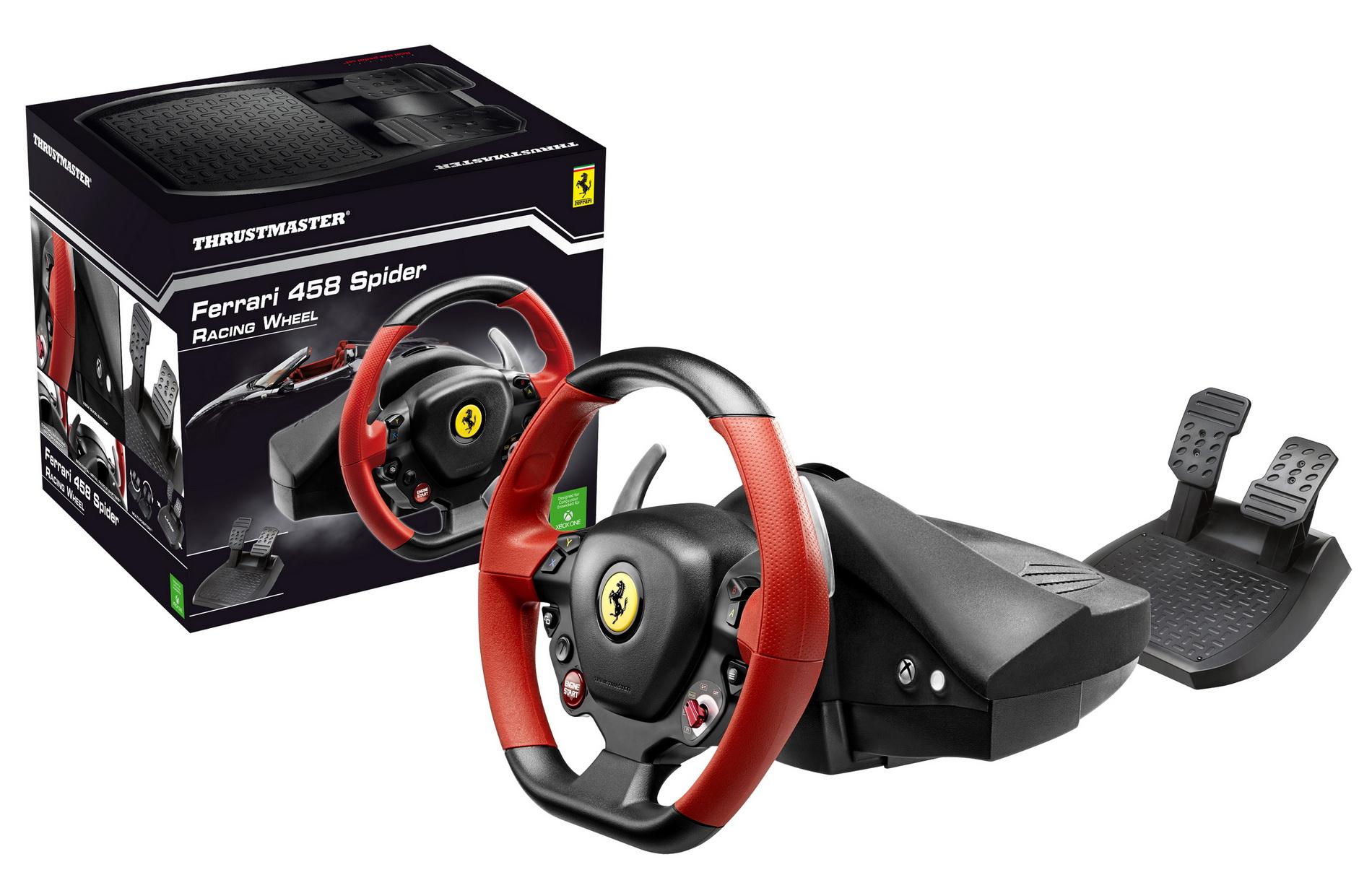 volant thrustmaster ferrari 458 spider xbox one. Black Bedroom Furniture Sets. Home Design Ideas