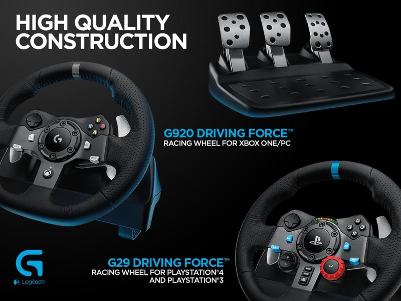 volant logitech driving force g29 pc ps3 ps4 ps4. Black Bedroom Furniture Sets. Home Design Ideas