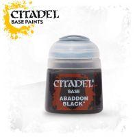 Barva Citadel Base: Abaddon Black - 12ml