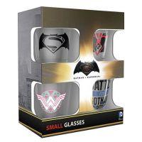 Batman vs Superman Shot Glasses - 4x sklenička 0,02l