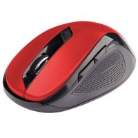 Bezdrátová myš C-Tech WLM-02R, černo-červená, 1600DPI, USB receiver (PC)