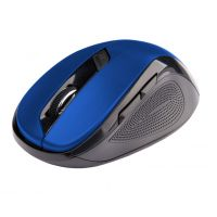 Bezdrátová myš C-Tech WLM-02B, černo-modrá, 1600DPI, USB receiver (PC)