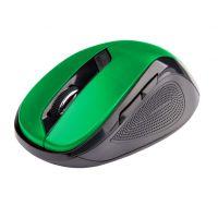 Bezdrátová myš C-Tech WLM-02G, černo-zelená, 1600DPI, USB receiver (PC)