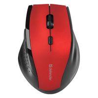 Defender Myš Accura MM-365, černo-červená, bezdrátová (PC)