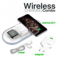 Bezdrátová nabíječka pro iPhone, Apple Watch a AirPods - Hoco CW24 Wireless 3in1 Charger