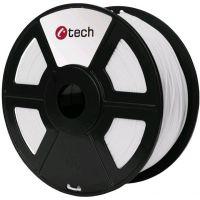 C-TECH tisková struna (filament), PETG, 1,75mm, 1kg, bílá (3DF-PETG1.75-W)