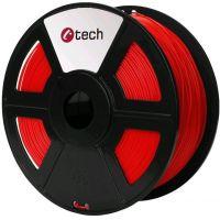 C-TECH tisková struna (filament), PETG, 1,75mm, 1kg, červená (3DF-PETG1.75-R)