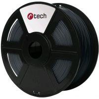 C-TECH tisková struna (filament), PETG, 1,75mm, 1kg, šedá (3DF-PETG1.75-DG)