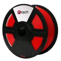 C-TECH tisková struna (filament), PLA, 1, 75mm, 1kg, fluorescenční červená (3DF-PLA1.75-FR)