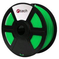 C-TECH tisková struna (filament), PLA, 1, 75mm, 1kg, fluorescenční zelená (3DF-PLA1.75-FG)