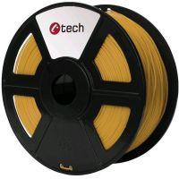 C-TECH tisková struna (filament), PLA, 1,75mm, 1kg, zlatá (3DF-PLA1.75-GL)
