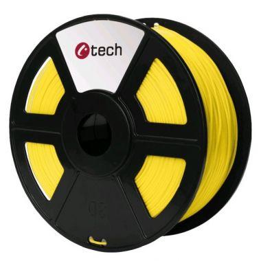 C-TECH tisková struna (filament), PLA, 1, 75mm, 1kg, žlutá (3DF-PLA1.75-Y)