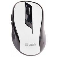 Bezdrátová myš C-TECH WLM-02W, černo-bílá, 1600DPI, USB receiver (PC)