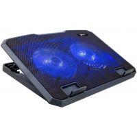 Chladící podložka C-TECH CLP-140, 15,6, 2x 140mm, 2x USB, modré podsvícení (PC)