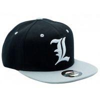 Death Note - L Snapback Cap - Černo šedá