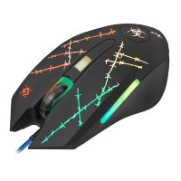 Defender Myš Forced GM-020L, 3200DPI, optická, drátová USB, černá, s herní podložkou (PC)