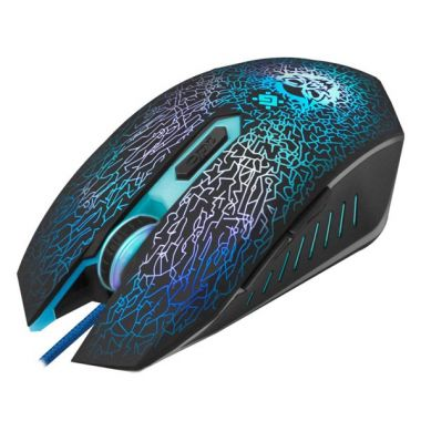 Defender Myš Shock GM-110L, 3200DPI, optická, drátová USB, černá, s herní podložkou, podsvícená (PC)