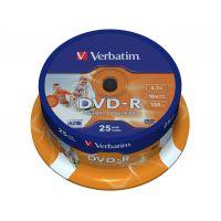 DVD-R Verbatim 4,7 GB 16x WIDE Printable 25-cake