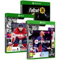 FIFA 21 + NHL 21 + Fallout 76 (3 hry) (Xbox One)