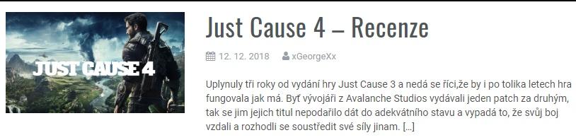 Just Cause 4 - Recenze