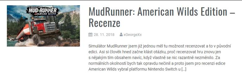 Mudrunner: American Wilds Edition - Recenze