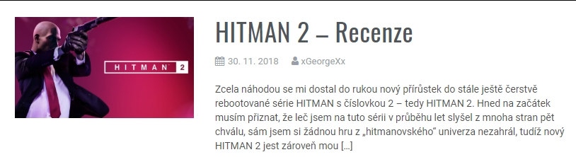 HITMAN 2 - Recenze
