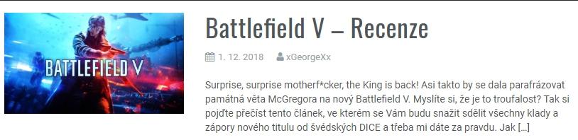 Battlefield V - Recenze