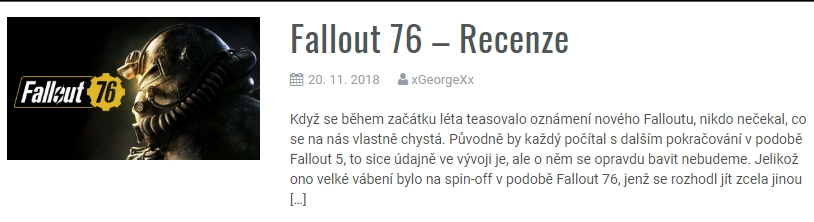 Fallout 76 - Recenze