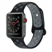 Gumový pásek / řemínek pro Apple Watch 42/44mm - Tech-Protect SOFTBAND, Černo-šedý