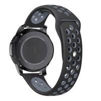 Tech-Protect SOFTBAND Gumový řemínek pro Samsung Galaxy Watch 42mm, Černo šedý