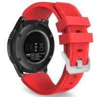 Tech-Protect SMOOTHBAND Gumový řemínek pro Samsung Galaxy Watch 46mm, Červený