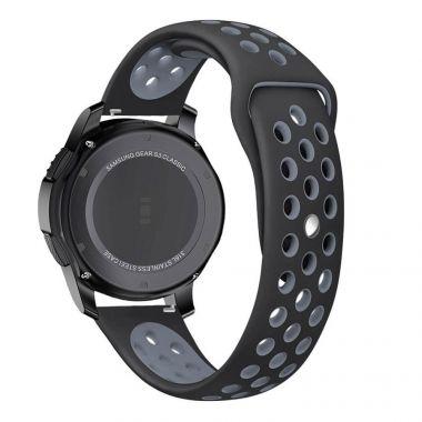 Tech-Protect SOFTBAND Gumový řemínek pro Samsung Galaxy Watch 46mm, Černo-šedý