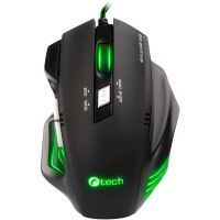 Herní myš C-Tech Akantha GM-01G (zelené podsvícení) (PC)