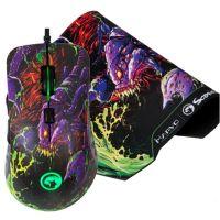 Herní myš Marvo G932, 4000DPI, optika, černá + podložka G20 (PC)