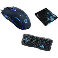 Herní set E-Blue Polygon, klávesnice a podložky s myší (EKM820BK) (PC)