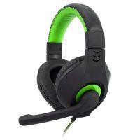 Herní Sluchátka C-Tech Nemesis v2 (GHS-14G), černo-zelená (PC)