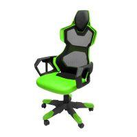 Herní židle E-Blue COBRA AIR, zelené, prodyšná záda (EEC307GRAA-IA)