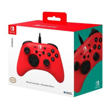 HORIPAD Wired Gamepad for Nintendo Switch, RED (Switch)