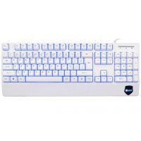 Klávesnice C-TECH KB-104W, 3 barvy podsvícení, bílá, CZ/SK, USB (PC)