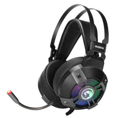 Marvo HG9015G, sluchátka s mikrofonem, ovládání hlasitosti, černá, USB (PC)