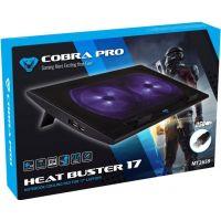 Media-Tech MT2659 Cobra PRO Head Buster 17 - chladící podložka pro notebook 15,5 až 17 palců, černá (PC)