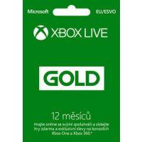 Microsoft Xbox LIVE Gold zlaté členství 12 měsíců (Xbox One)