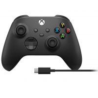 Microsoft Xbox Series / Xbox One Wireless Controller Black + kabel USB-C pro Windows (Xbox One)