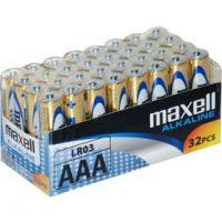 Mikrotužkové Alkalická baterie MAXELL LR03 AAA 32ks 35052283