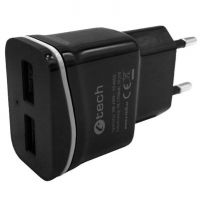 Nabíječka USB C-TECH UC-03, 2x USB, 2,1A, černá