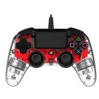 Nacon Wired Compact Controller (průhledný červený) (PS4)