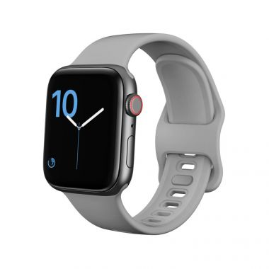 Tech-Protect Náhradní gumový řemínek pro Apple Watch (38/40mm), šedý