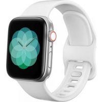 Tech-Protect Náhradní gumový řemínek pro Apple Watch 42/ 44mm, Bílý