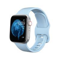 Tech-Protect Náhradní gumový řemínek pro Apple Watch (42/44mm), Nebesky modrá